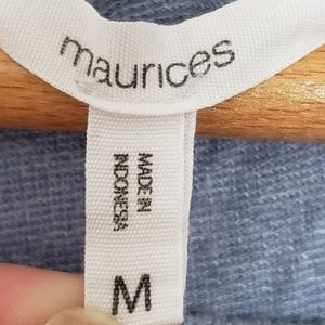 Maurices Tops - Maurices Heather Blue Ruched Sweatshirt Style Top
